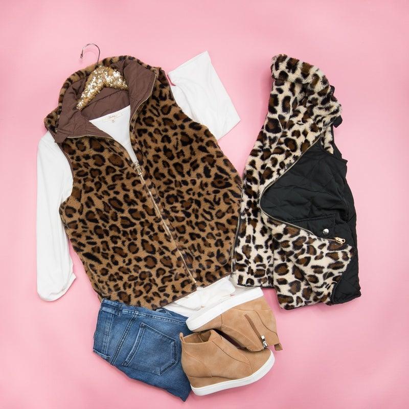 Reversible Leopard Vest *ALL SALES FINAL*