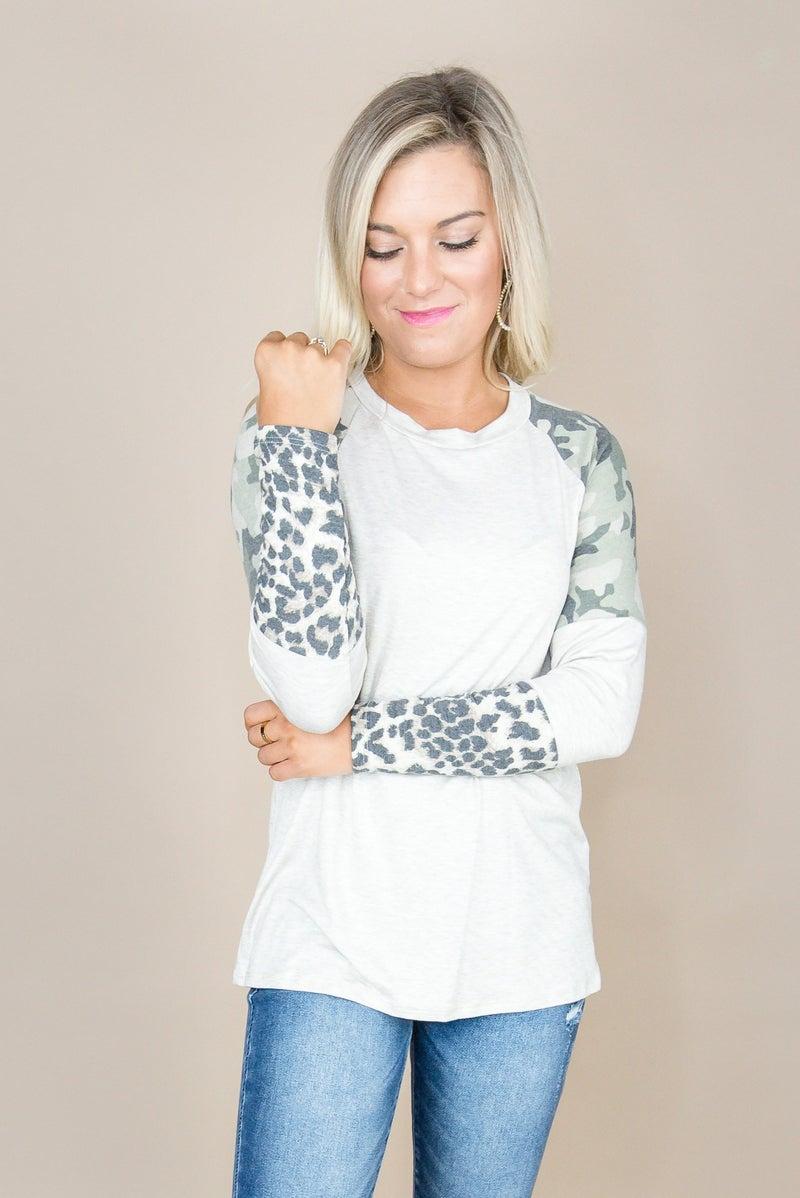 Leopard Camo Trend Top