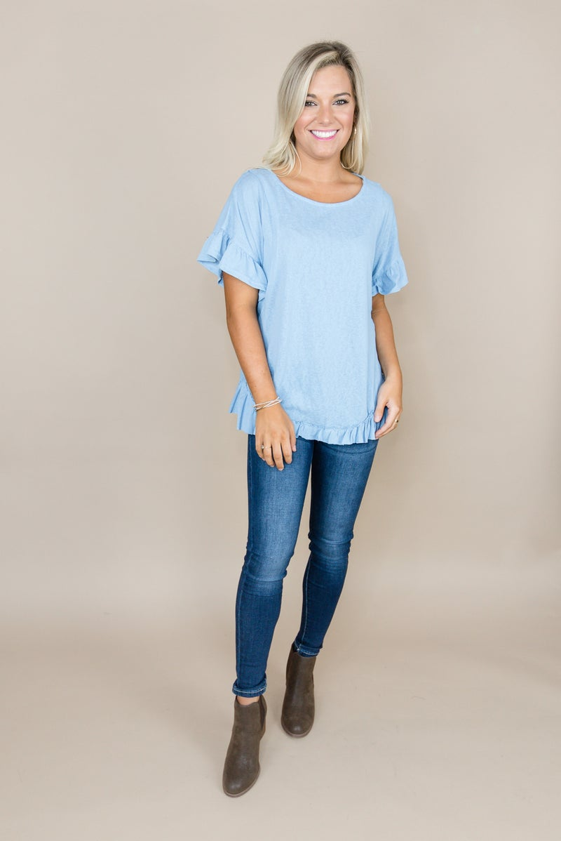 Ruffled Cup Top