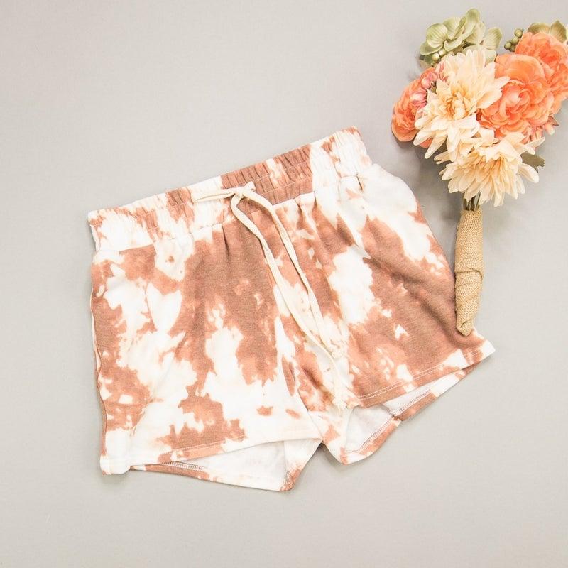 Rust Tie Dye Shorts *all sales final*