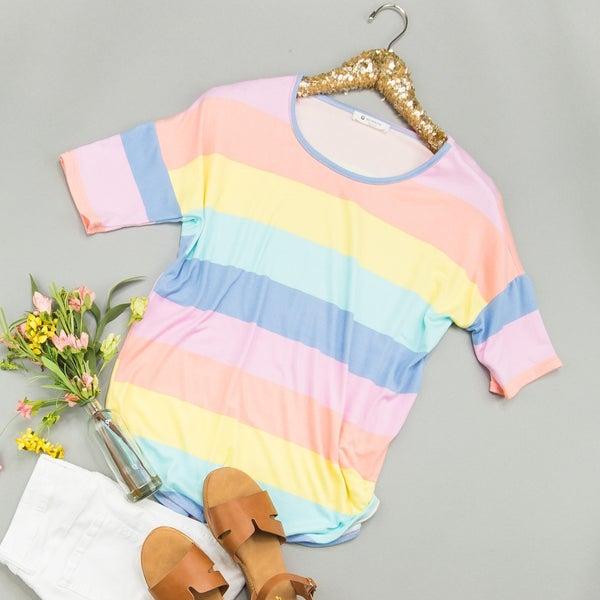 Pastel Rainbow Top