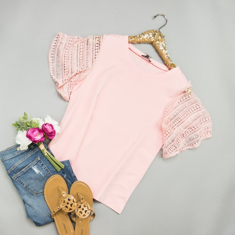 Blush & Lace Top