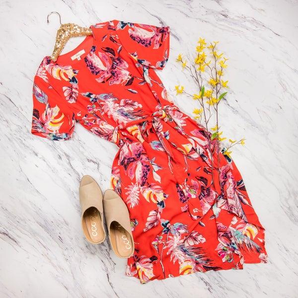 Pops Of Floral Dress