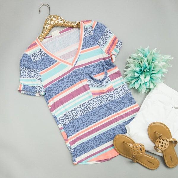 Summer Trends Stripe Top *all sales final*