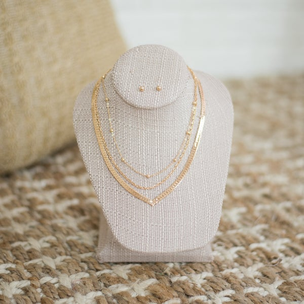 Layered Snake Chain Necklace Set