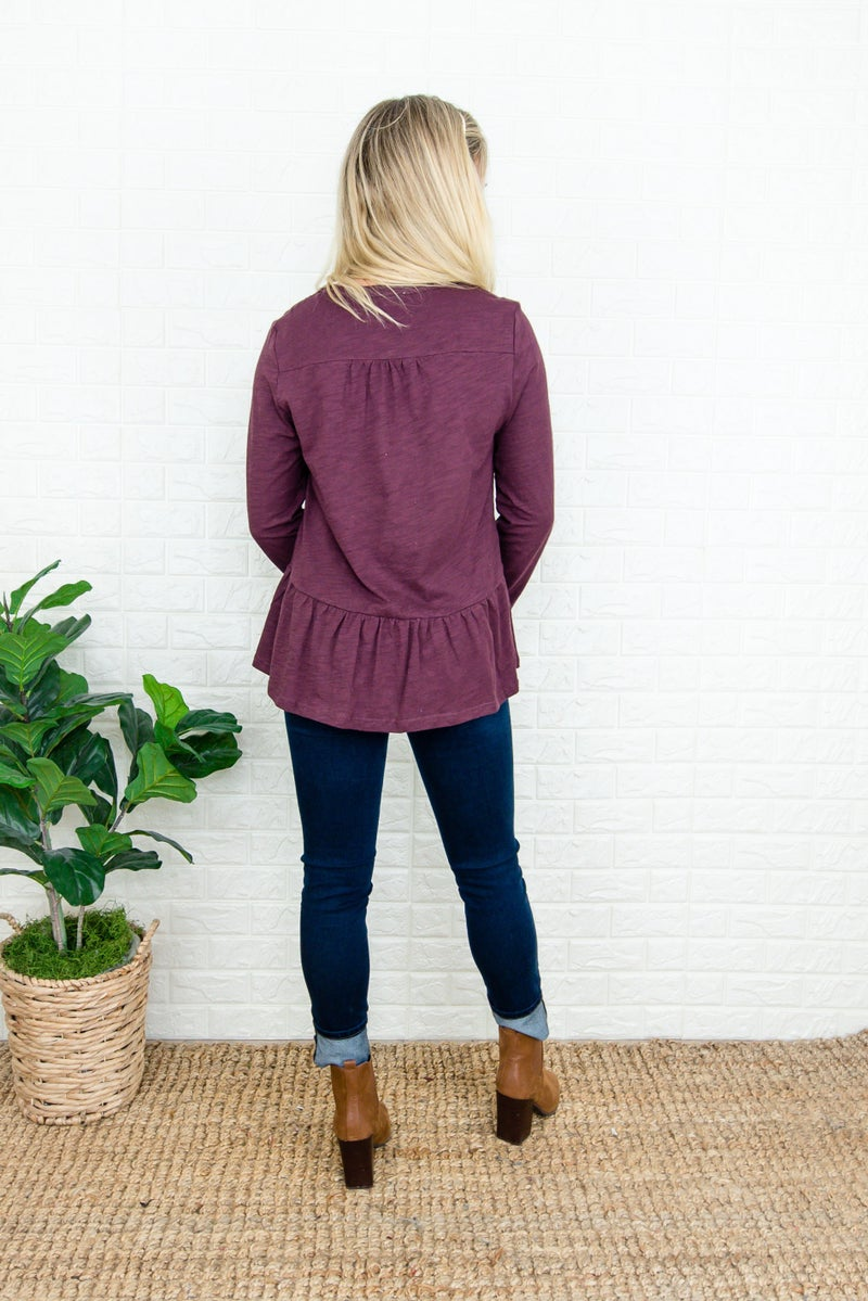 Plum Ruffle Top (repost)