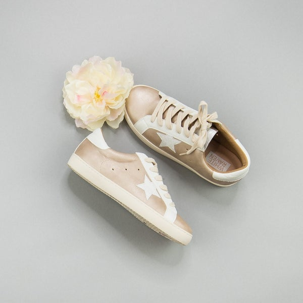 Rose Gold Star Sneakers *all sales final*