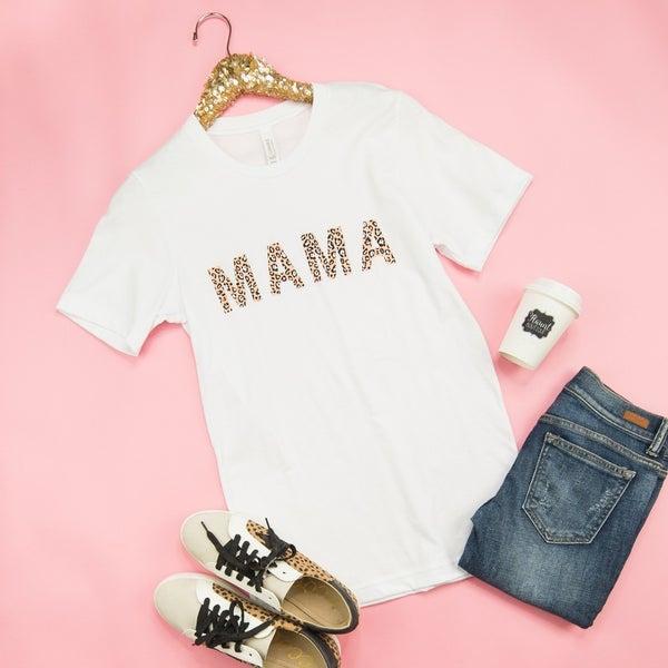 White Leopard Mama Tee