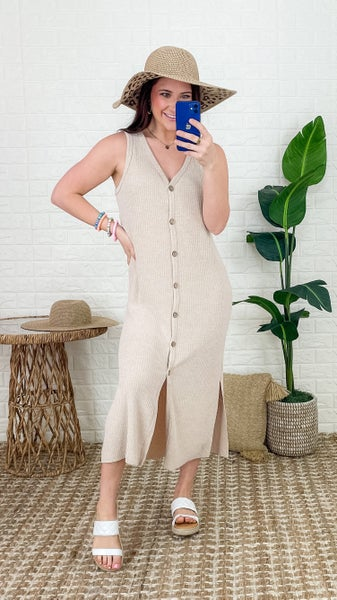 To Be Loved Oatmeal Dress