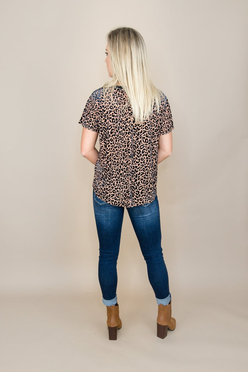 Velvet Leopard Top