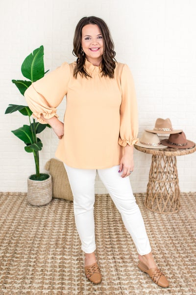 Your Best Self Ruffle Blouse