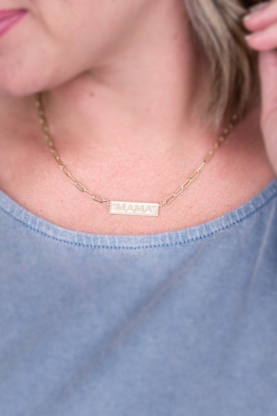 MAMA Gold Chain Necklace