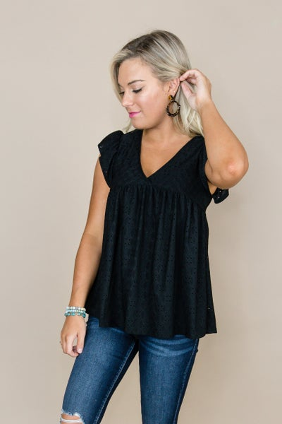 Fall Flutter Top *all sales final*