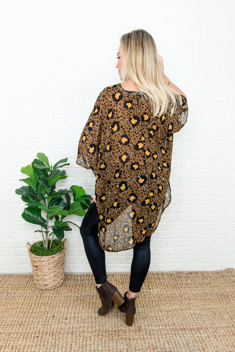 Dark Leopard Poncho Tee