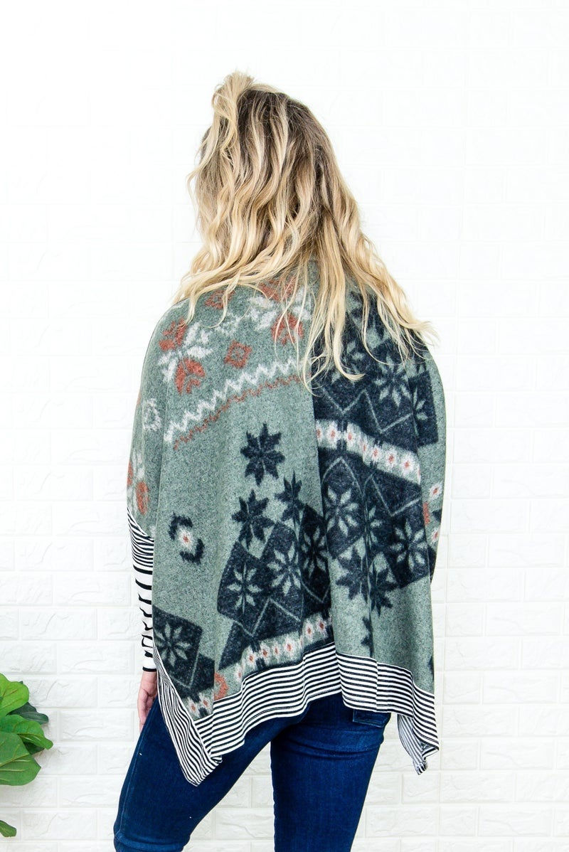 Cabin Fever Poncho Top