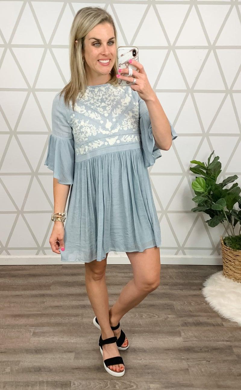 Pretty in Blue Dress *all sales final*