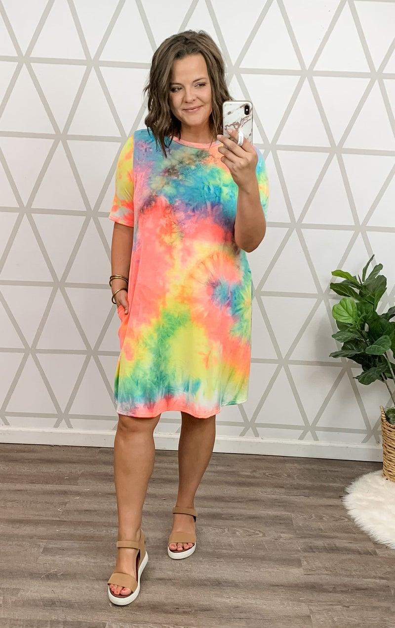 Brightest Tie Dye Dress