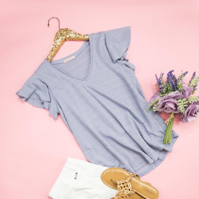 Lavender Striped Top