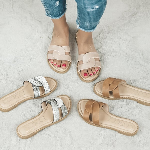 Sugar Braided Sandal  *ALL SALES FINAL*