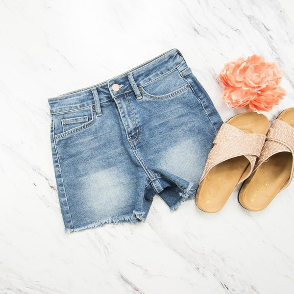 YMI Fringe Denim Shorts