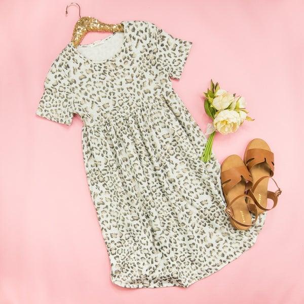 Gray Leopard Dress