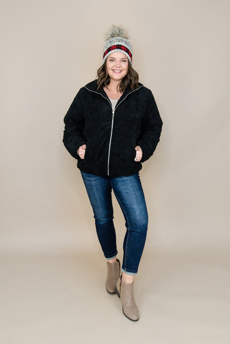 Black Puffer Jacket *ALL SALES FINAL*
