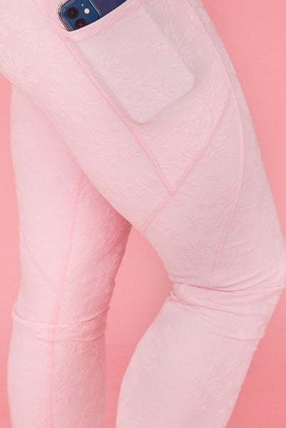 Mono B Textured Floral Leggings
