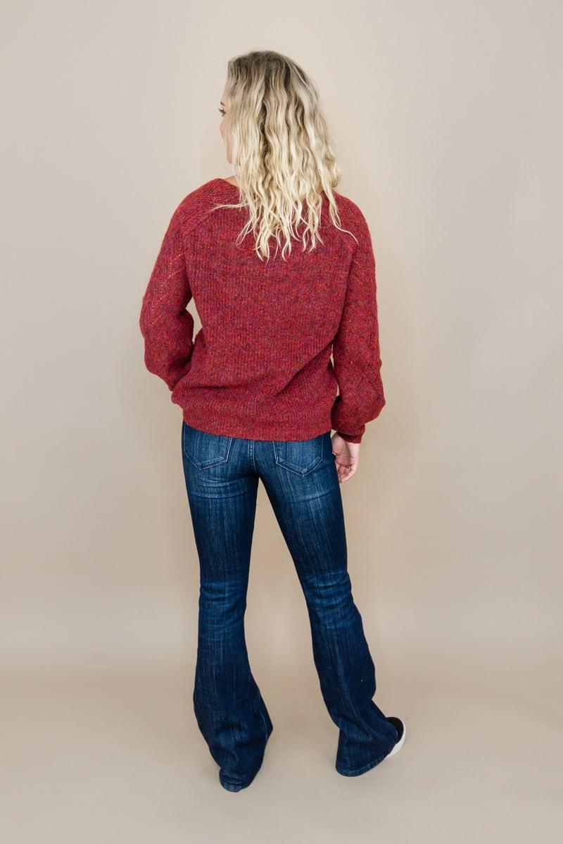 Deep Red Fall Sweater(repost)