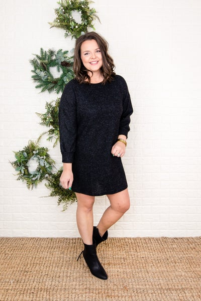 Ribbed Sweater Dress  *all sales final*