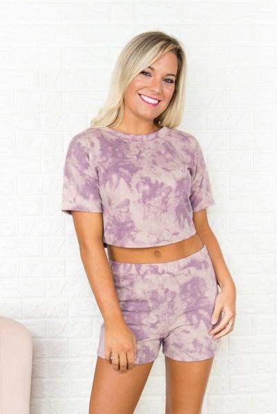 Purple Dye Crop Top *all sales final*