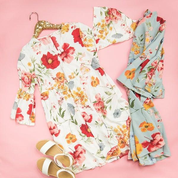 Elegant Floral Dress *all sales final*