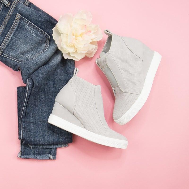 Spring Tone Wedge Sneaker *all sales final*