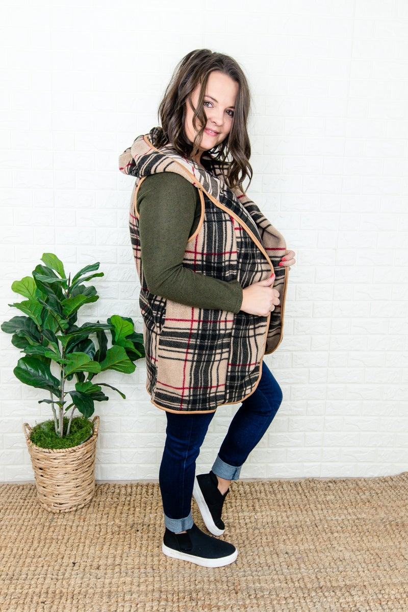 Cozy Plaid Vest *all sales final*