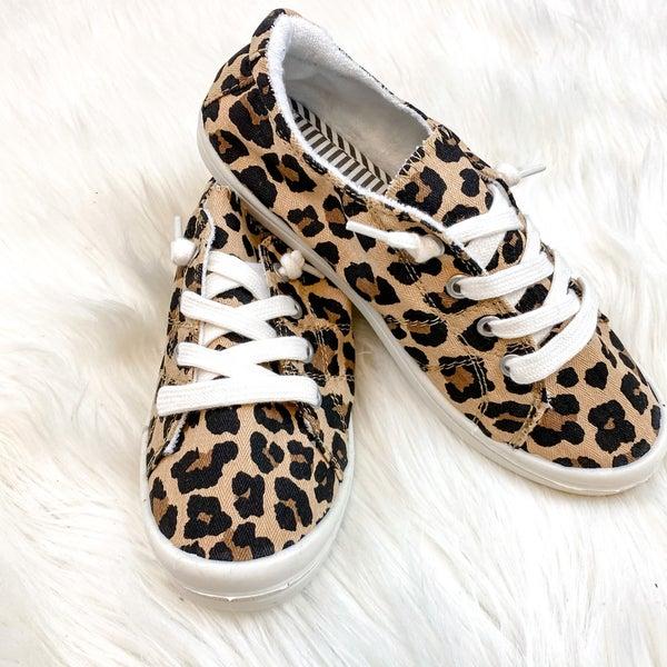 Slide Me On Leopard Sneaker