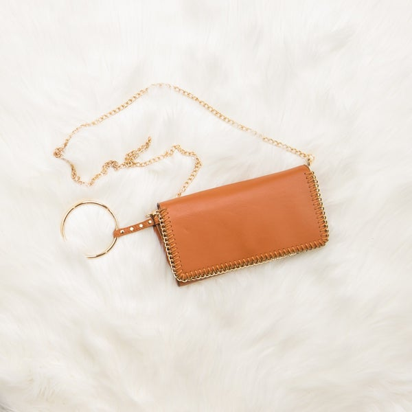 Camel Brown Clutch