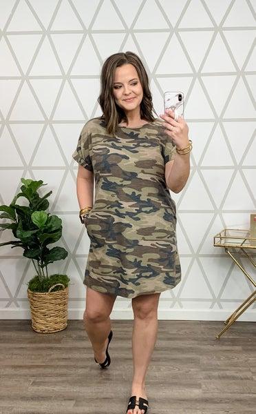 Slimming Camo Dress