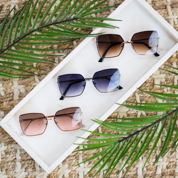Side Stud Design Sunglasses