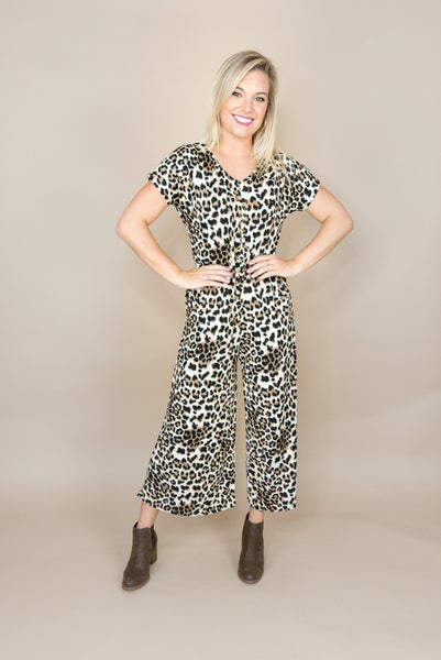 Bold Leopard Jumpsuit *all sales final*