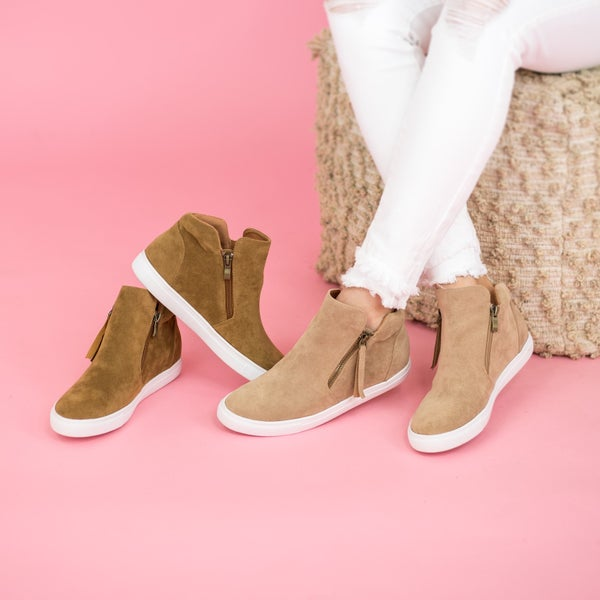 Out N About Micro Wedge Sneaker  *all sales final*