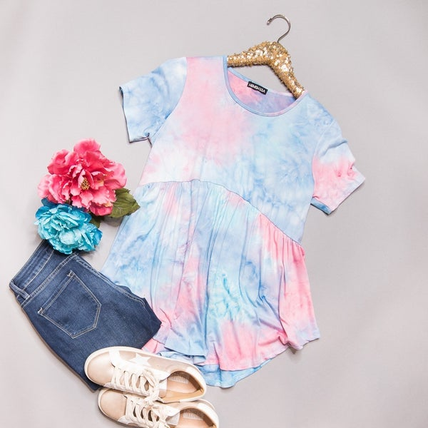*HAPPY HOUR* Cotton Candy Peplum Top // all sales final