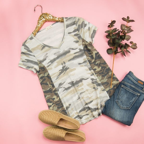 Two Shades Of Camo Tee *all sales final*