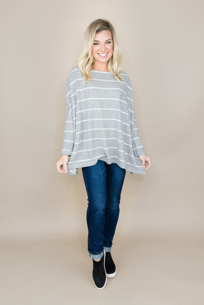 All You Need Gray Poncho