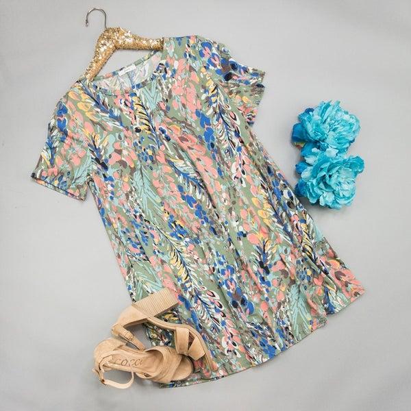 Sage Watercolor Dress