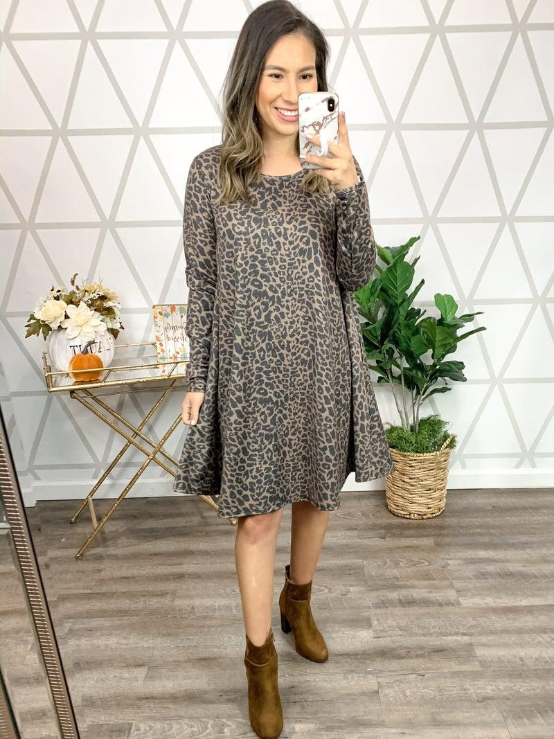 Leopard Swing Dress *ALL SALES FINAL*