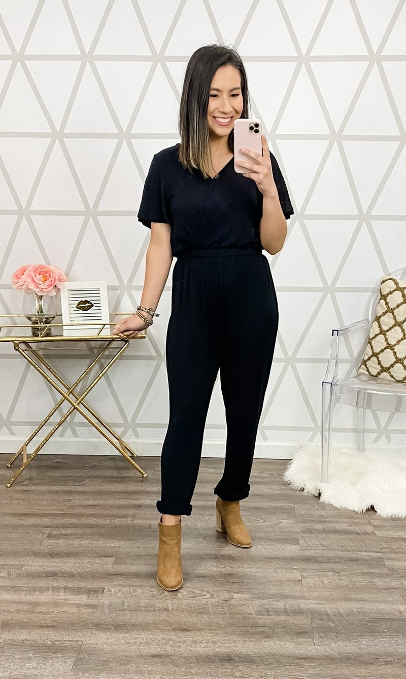 Black and Chic Jumpsuit