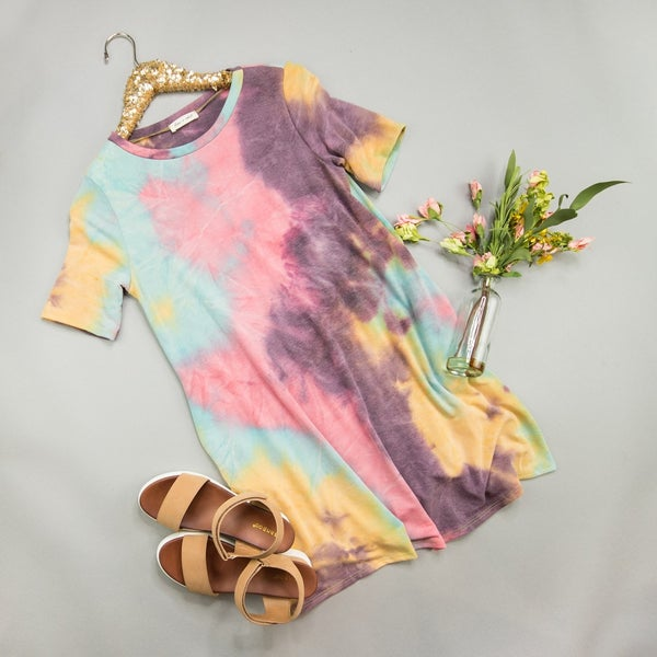 Here to Stay Tie Dye Dress