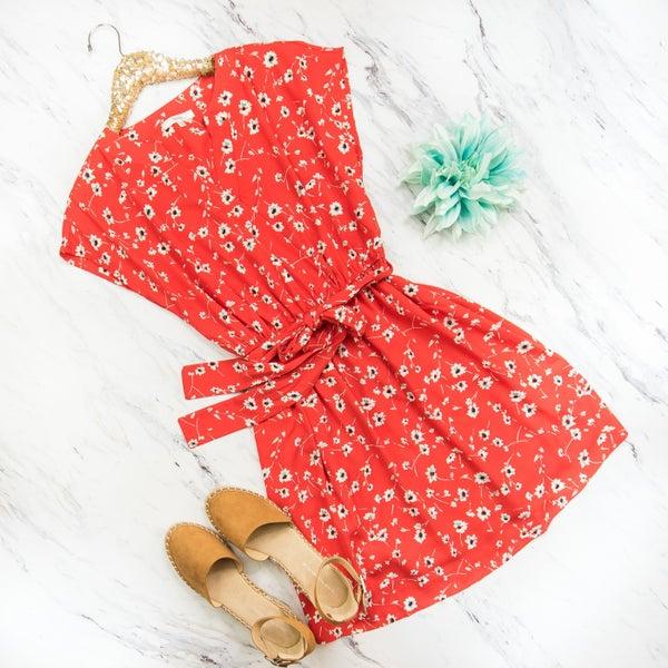 Spring Floral Layover Dress