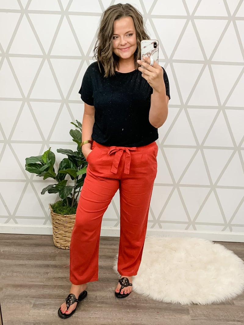 Easy Going Bow Pants