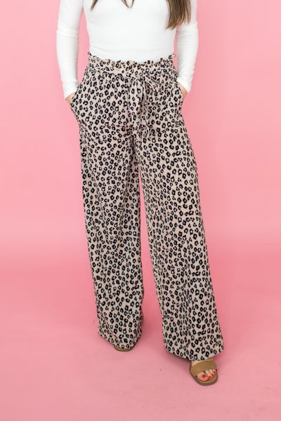 Work Wear Leopard Pants