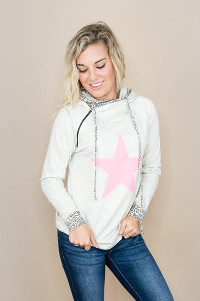 Pink Star Hoodie *all sales final*